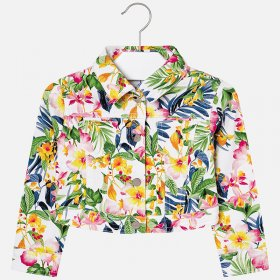 Mayoral Tropical Print Canvas Jacket Style 3409