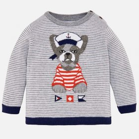 Mayoral French Bulldog Jumper Style 1310 - Marble Grey