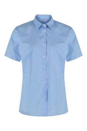 Girls Blue Short Sleeved Blouses - Twin Pack