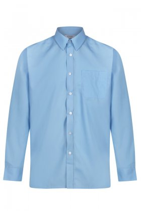 Boys Blue Long Sleeved Shirts - Twin Pack